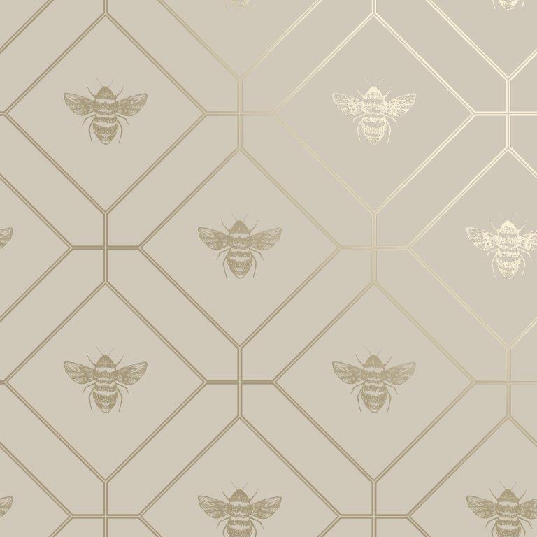 Delphi Glitter Damask Wallpaper