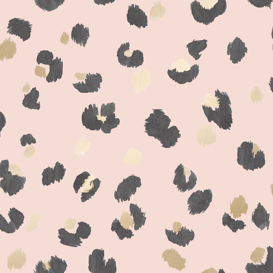 Glitter Leopard Fur Wallpaper