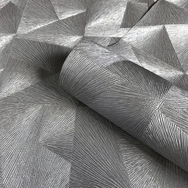 3D Geometric Textured Wallpaper