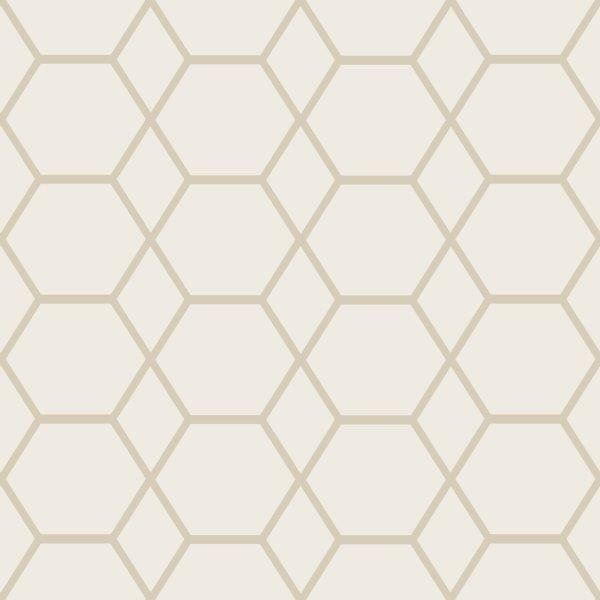 Metro Hexagon Marble Metallic Wallpaper