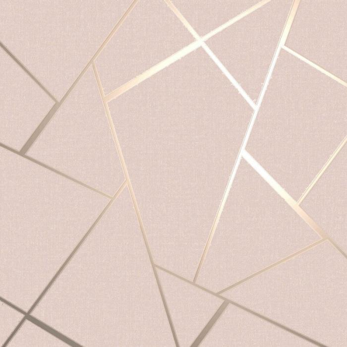 Metallic Geo Diamond Wallpaper