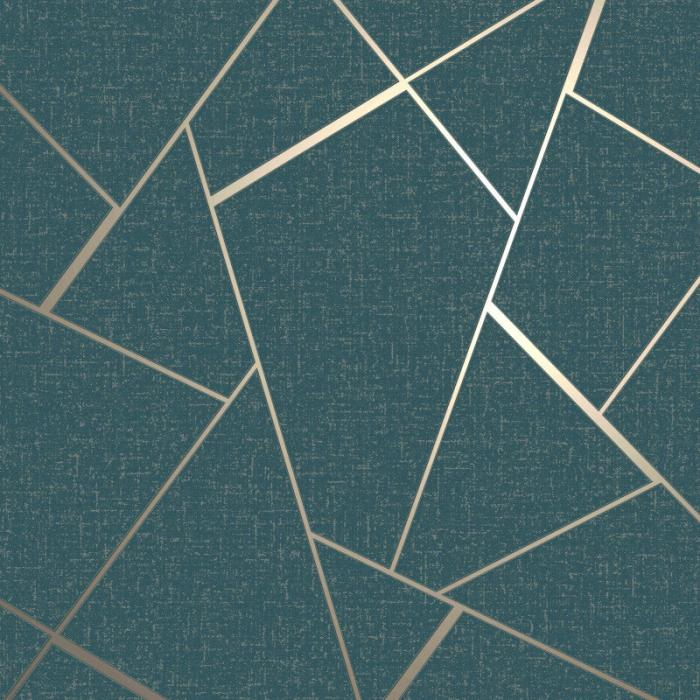 Nova Geometric Metallic Star Wallpaper
