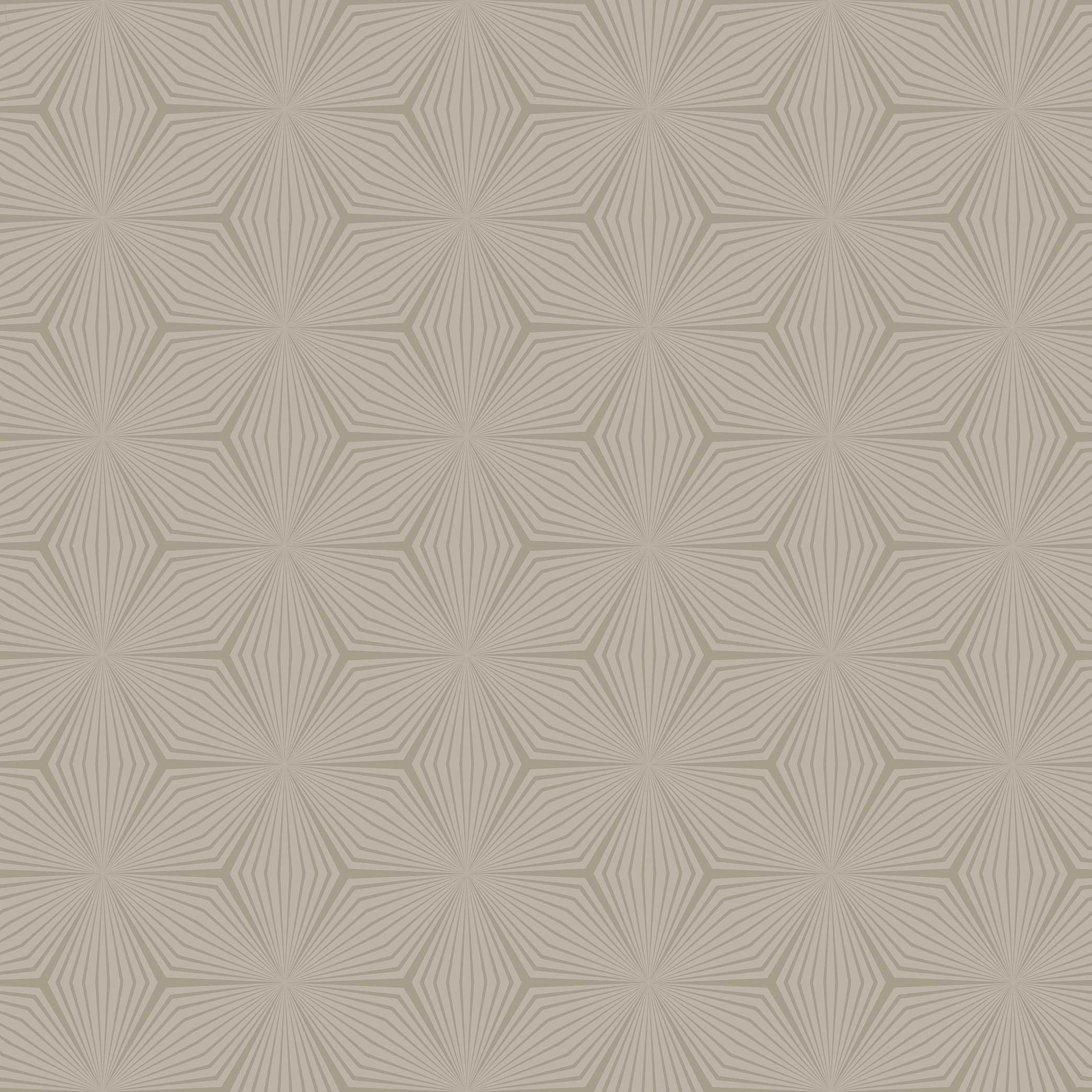 Retro Flower Linen Wallpaper