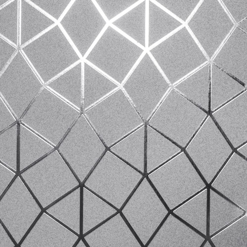 Platinum Geometric Metallic Wallpaper