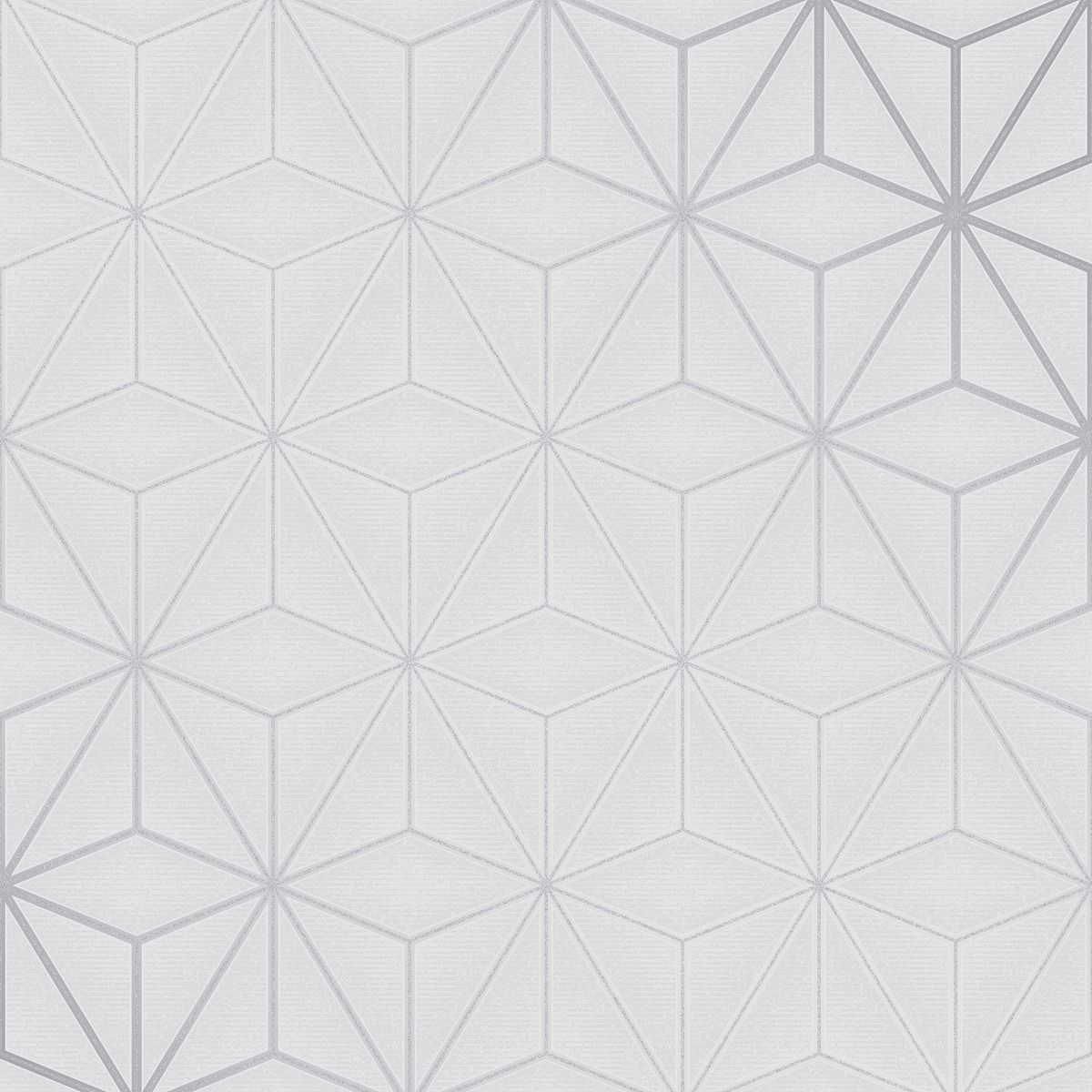 Quartz Metallic Trellis Wallpaper