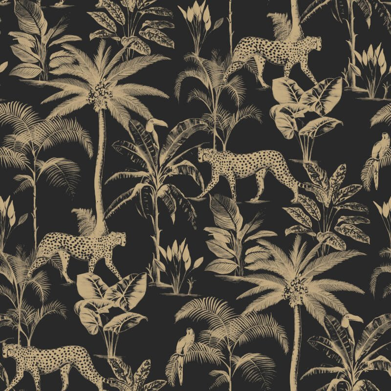Menagerie Jungle Animals Wallpaper
