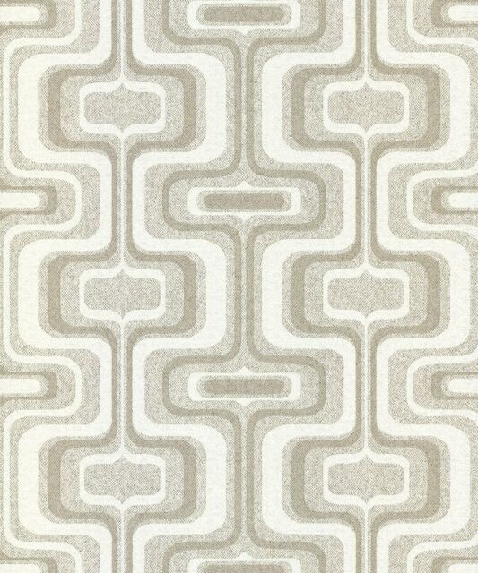 Kayla Metallic Geometric Wallpaper