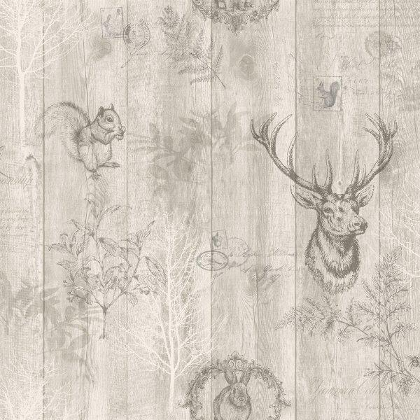 Delphi Glitter Damask Wallpaper