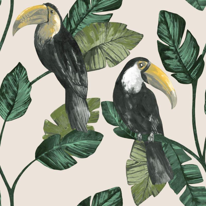 Toucan Trail Wallpaper Neutral