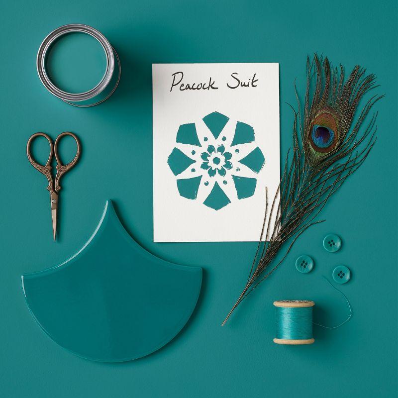 Rust-Oleum Kitchen Cupboard Paint - Peacock Suit 750ml