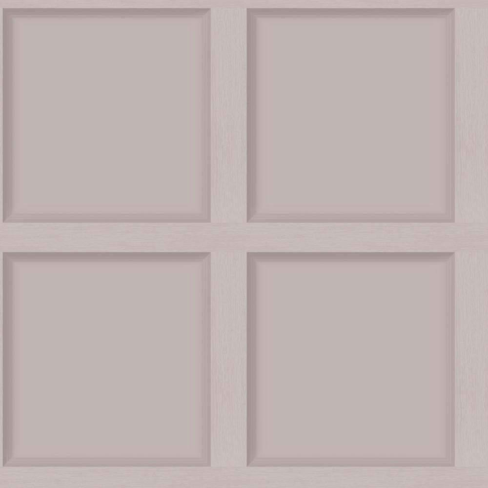Luxury Wood Panel Wallpaper Blush - DCO Exclusive
