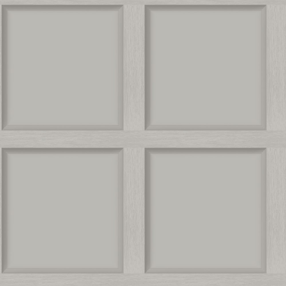Luxury Wood Panel Wallpaper Warm Grey - DCO Exclusive