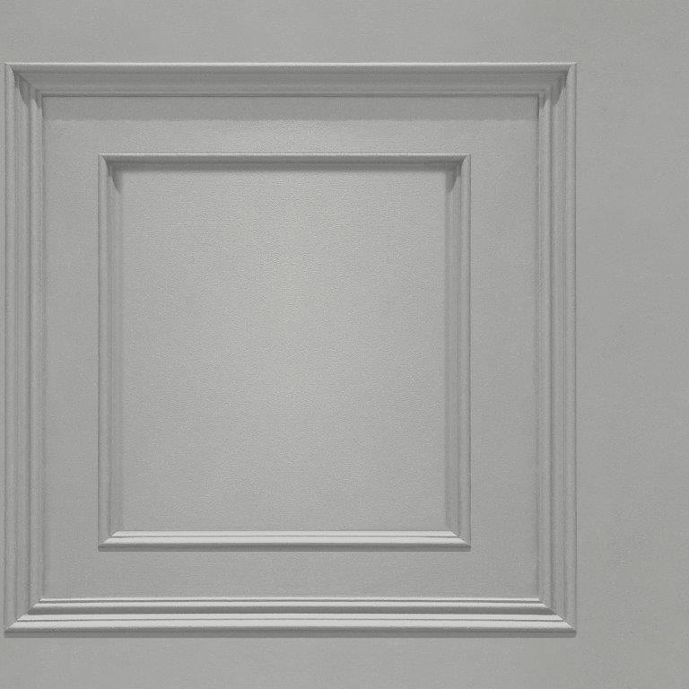 Oliana Wood Panel Effect Wallpaper Grey