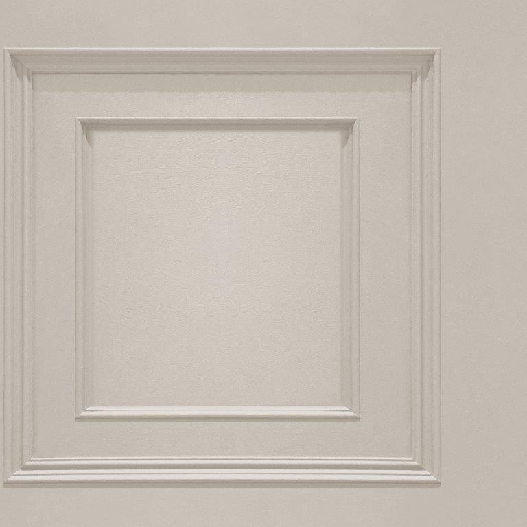 Oliana Wood Panel Effect Wallpaper Cream