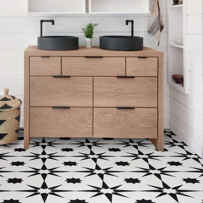 Altair Floorpops Peel And Stick Vinyl Floor Tiles 10 Pack