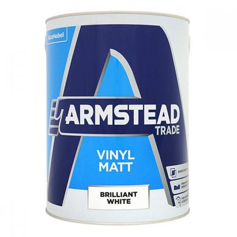 Armstead Trade Vinyl Matt Paint - Brilliant White