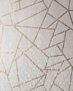 Theia Geometric Metallic Wallpaper