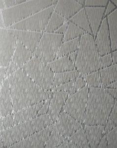 Theia Geometric Metallic Wallpaper Silver