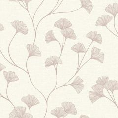 Glistening Ginkgo Floral Trail Wallpaper Rose Gold