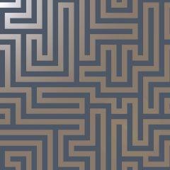 Glistening Maze Wallpaper - Navy