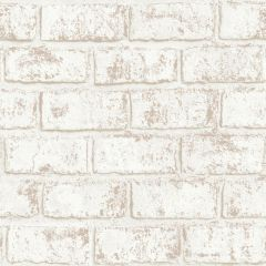 Glistening Brick Wallpaper Cream/Rose Gold
