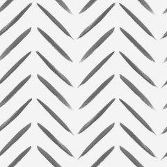Chevron Brush Marks Wallpaper Black & White