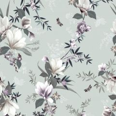 Lipsy Lotus Floral Wallpaper Duck Egg
