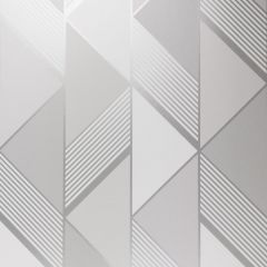 Lipsy London Geometric Wallpaper Grey & Silver