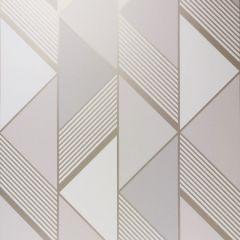 Lipsy London Geometric Wallpaper Grey & Gold