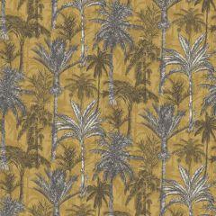 Hawaiian Palm Wallpaper Ochre