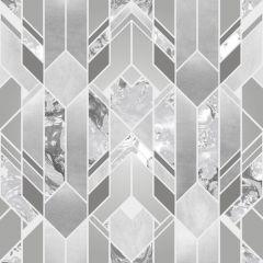 Elixir Geometric Marble Effect Wallpaper Silver