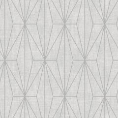 Aspen Geo Metallic Wallpaper Grey
