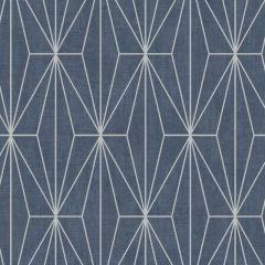 Aspen Geo Metallic Wallpaper Navy