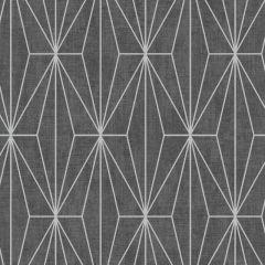 Aspen Geo Metallic Wallpaper Black
