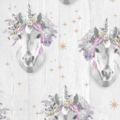 Starry Pink Unicorn Rainbow Wallpaper