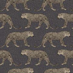 Portfolio Leopard Animal Print Wallpaper Black/Gold