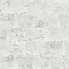 Metallic Concrete Brick Wallpaper White