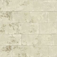 Metallic Concrete Brick Wallpaper Natural