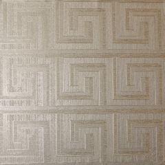 Greek Key Foil Wallpaper Champagne