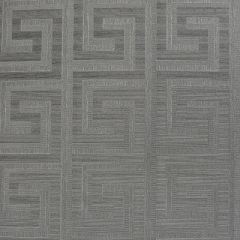 Greek Key Foil Wallpaper Gunmetal