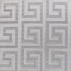 Greek Key Foil Wallpaper Silver