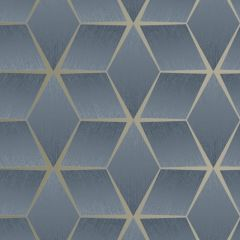 3D Geometric Textured Wallpaper Navy