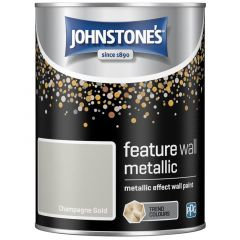 Metallic Feature Wall Paint 1.25L Champagne Gold