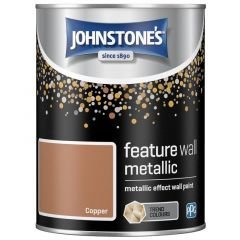 Metallic Feature Wall Paint 1.25L Copper