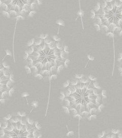 Allora Dandelion Wallpaper Grey