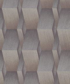 3D Effect Metallic Wallpaper Gold & Silver