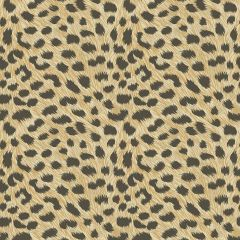 Leopard Animal Print Metallic Wallpaper Gold