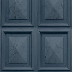 Erismann Imitations Panelling Effect Wallpaper Navy