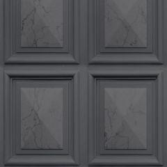 Erismann Imitations Panelling Effect Wallpaper Charcoal