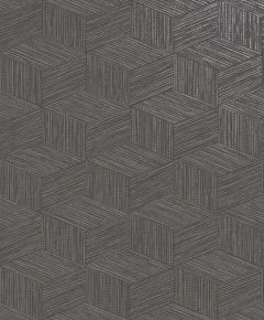 Bakau Grasscloth Metallic Wallpaper Charcoal